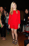 Elle Fanning supports Marc by Marc Jacobs during New York Fashion Week.