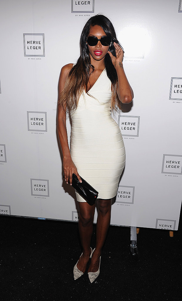 Jessica White stepped out for Herve Leger.