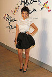 Kourtney Kardashian styled up a cute look for Alice + Olivia's presentation.