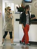 Matthew Bellamy and Kate Hudson at a gym in London.