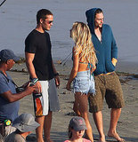 Taylor Kitsch and Aaron Johnson play best friends interested in the same girl in Savages.