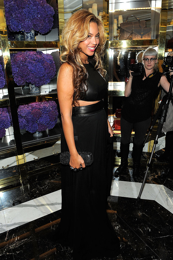 Beyonce in a black Michael Kors dress.