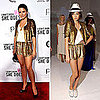 Sophia Bush Wearing Nonoo Spring 2012 Gold Sequin Suit