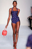 Marc by Marc Jacobs's retro-inspired swimwear maintained the sporty elements from the 2012 collection.