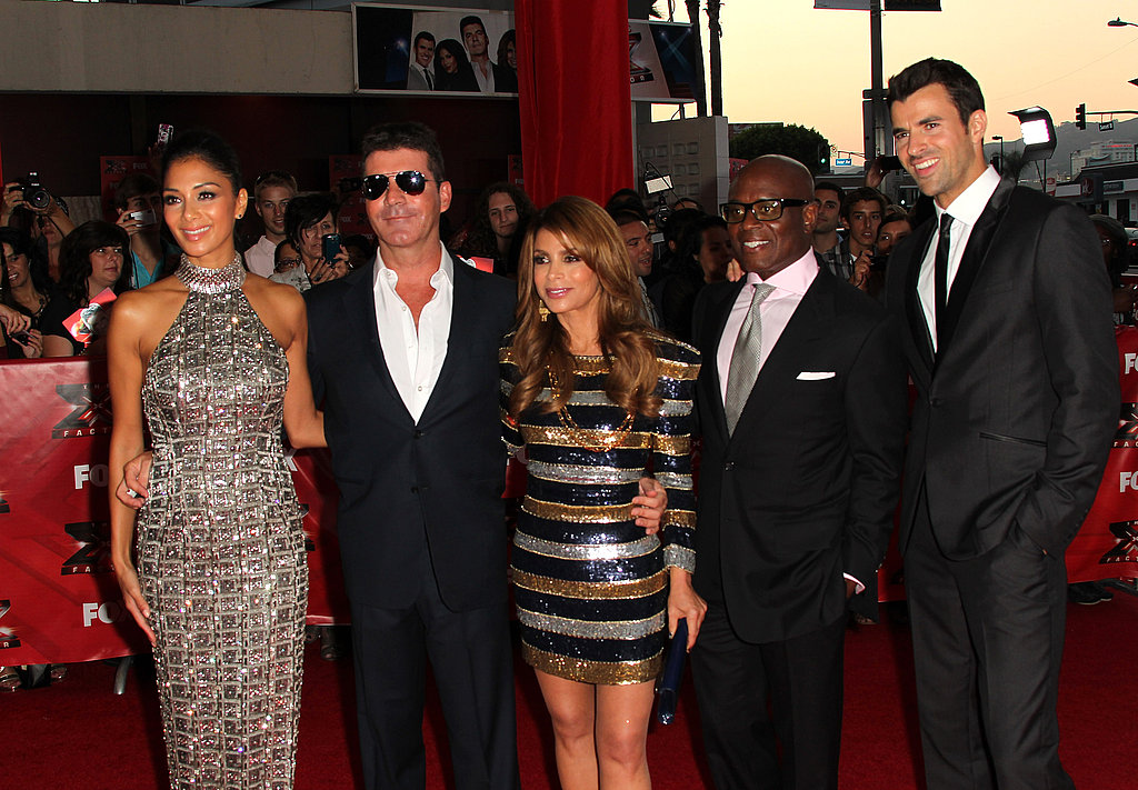 The judges and host Steve gathered for a group photo.