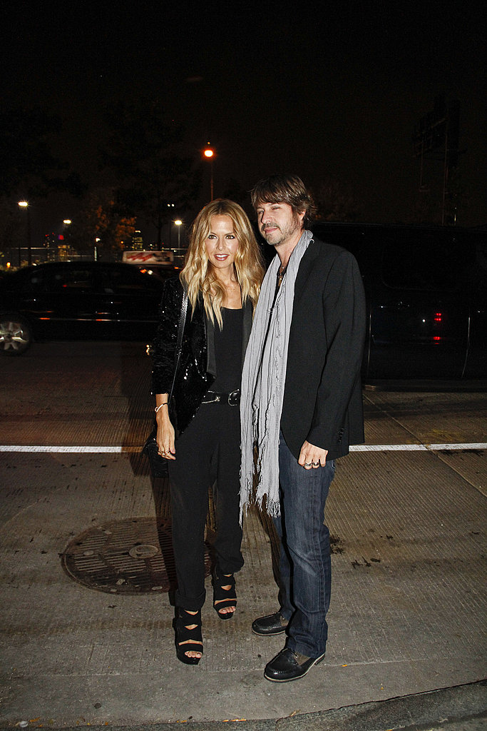 Rachel Zoe and Rodger Berman posed on their way into the Proenza Schouler Spring 2012 fashion show.