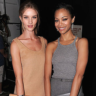Zoe Saldana and Rosie Huntington-Whiteley NYFW Pictures