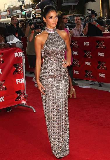 Nicole Scherzinger went for glam on the red carpet.