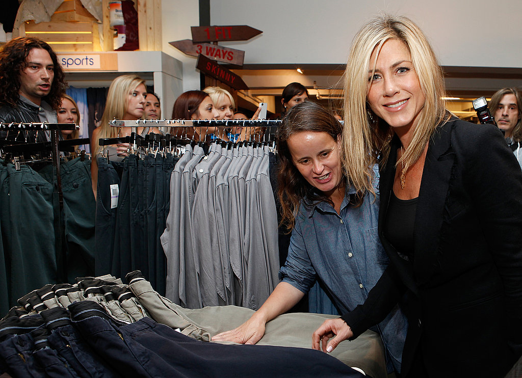 Jennifer had help picking out jeans.
