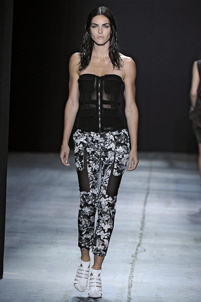 Alexander Wang's sporty play on sexy brought this sheer bustier.