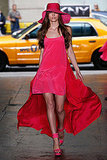 DKNY gave us a flowy silk dress in the hottest shade of pink.