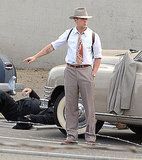 Ryan Gosling Goes Gangster With a Smoke on Set in LA
