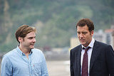 Actors Daniel Bruhl and Clive Owen in San Sebastian.