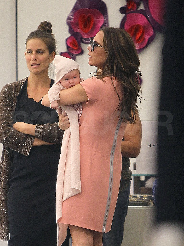 Victoria Beckham Shops Louboutin and Shows Harper More City Spots