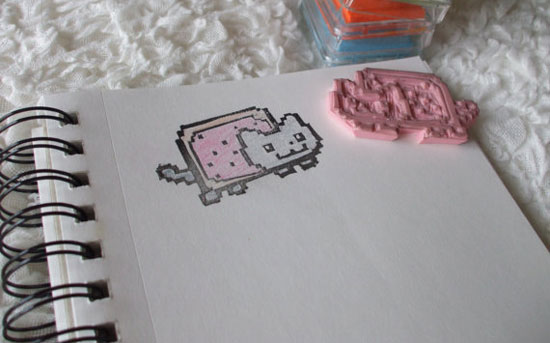 Nyan Cat Hand-carved Stamp ($13)