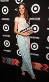 Alessandra Ambrosio made an appearance at the Missoni x Target soiree, wearing a beautiful dress by Missoni.