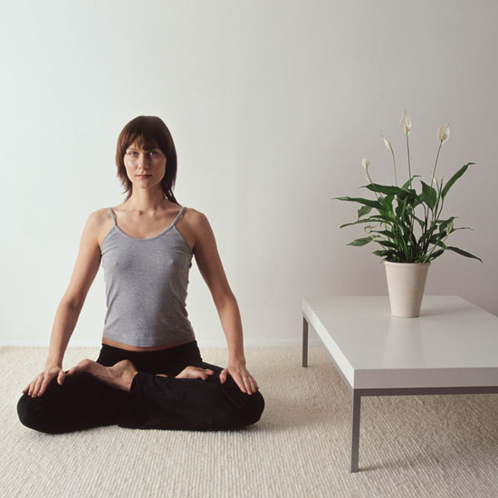 how to create a calming yoga room at home popsugar fitness