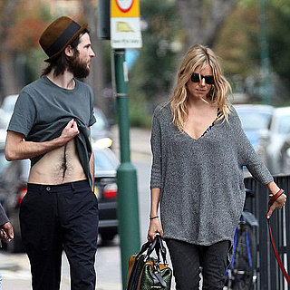 Tom Sturridge Abs and Sienna Miller Pictures in London