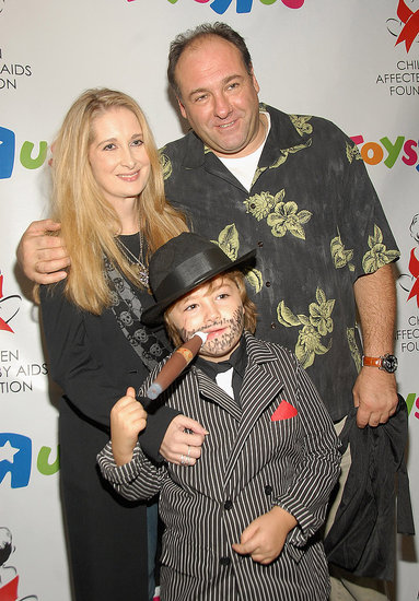 James, Marcy, and Michael Gandolfini