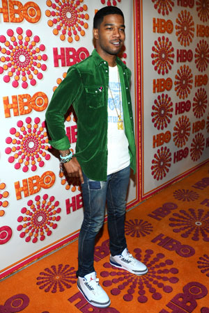 Kid Cudi went for a casual look at the HBO Emmy afterparty.