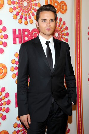 The Secret Circle star Thomas Dekker posed on the red carpet for the HBO Emmy afterparty.