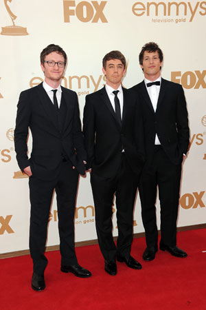 Akiva Schaffer, Jorma Taccone, and Andy Samberg posed on the red carpet and performed three of their nominated songs during the show.