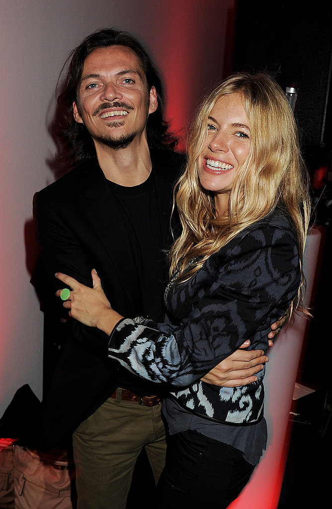 Sienna Miller with Matthew Williamson.