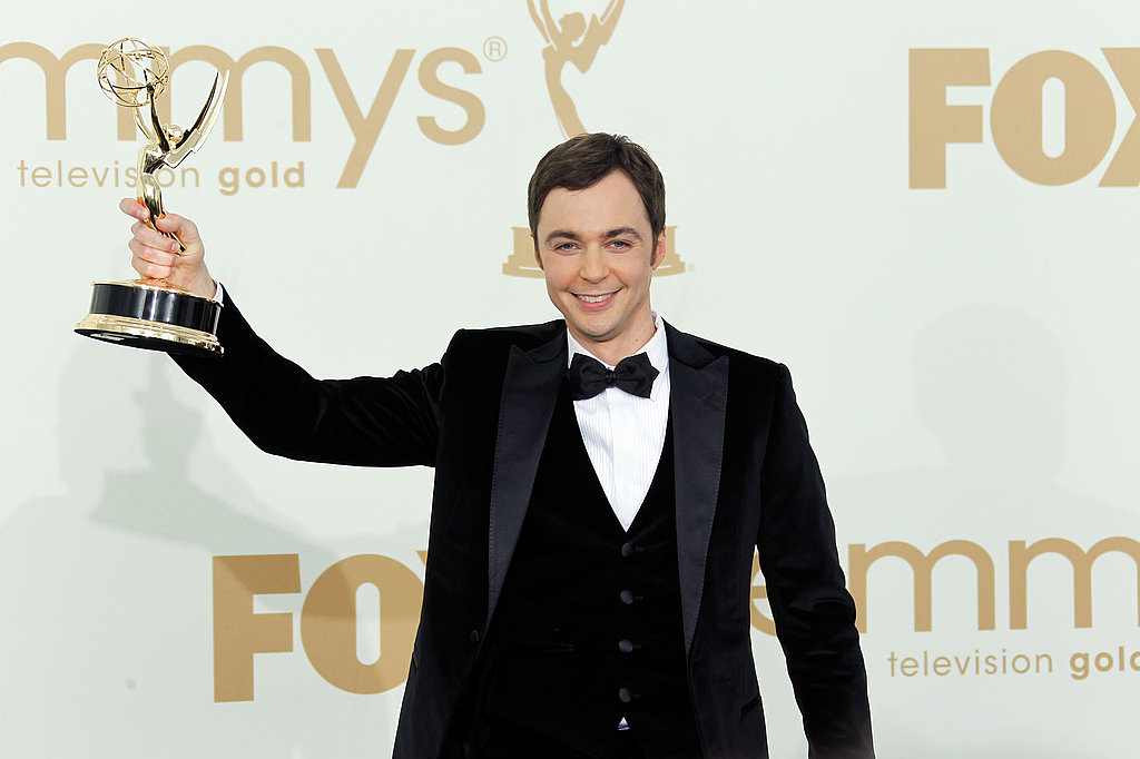 Jim Parsons in the Emmys press room.
