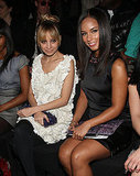 Nicole Richie smiled for a photo next to Alicia Keys at Zac Posen's February 2009 New York Fashion Week presentation.