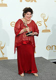 Margo Martindale in the Emmys press room.