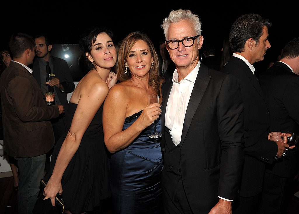 John Slattery, Sarah Silverman, and Talia Balsam at the AMC post-Emmys party.