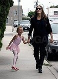 Pregnant Jennifer Garner with Violet.