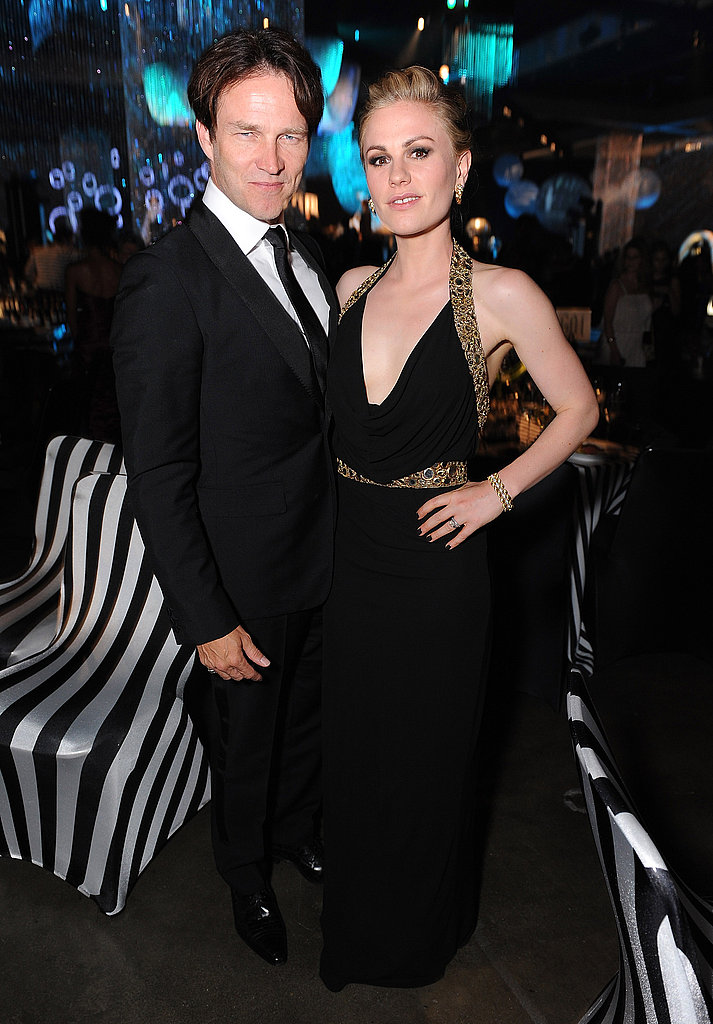 Anna Paquin and Stephen Moyer at the Emmys Governor's Ball.