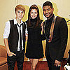 Justin Bieber and Selena Gomez With Usher in Atlanta Pictures