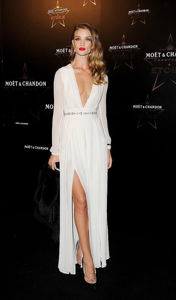 Rosie Huntington-Whiteley celebrates Mario Testino and his Moet & Chandon Etoile Award.