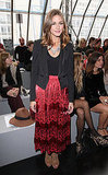 Olivia Palermo looked bohemian chic at the Topshop Unique show.