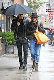 Jennifer Aniston and Justin Theroux stick together in the Big Apple.