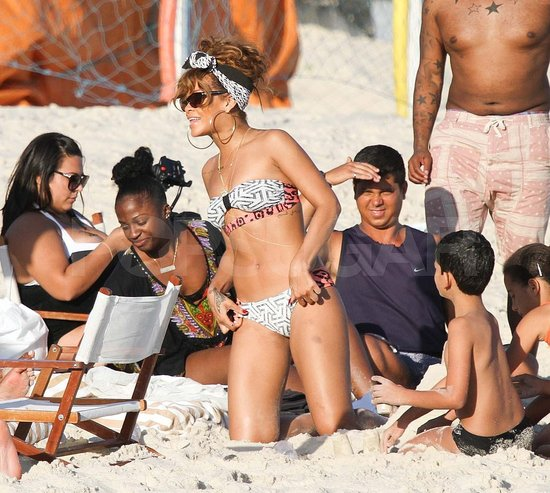 Rihanna Relaxes in a Bikini on the Beach in Brazil