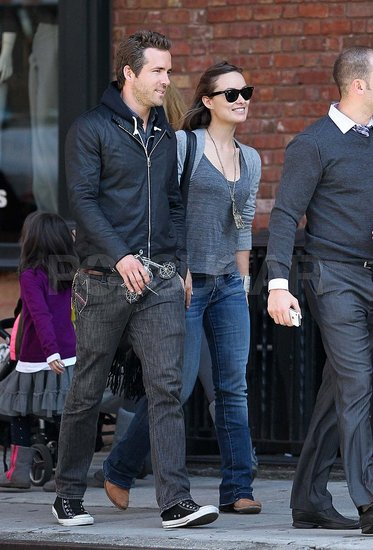 Ryan Reynolds and Olivia Wilde Get Close During a Couple's Lunch in NYC