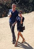 Ryan Gosling and Eva Mendes go to LA's Griffith Park Observatory.