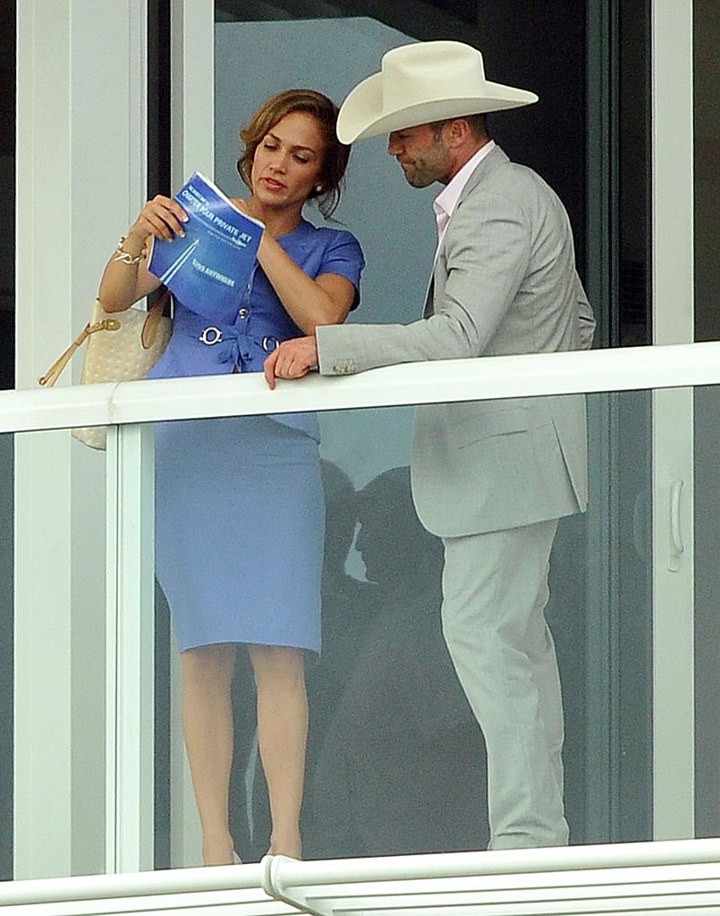 Jason Statham Hitches a Ride With Jennifer Lopez on the Set of Parker