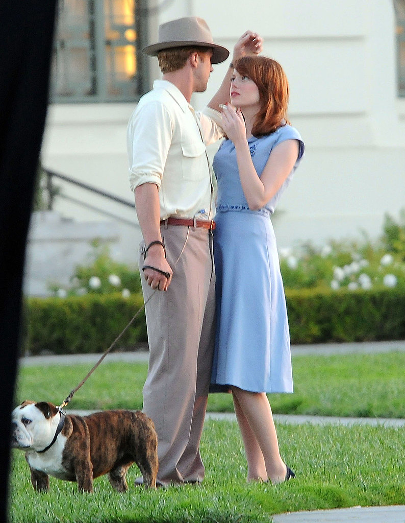 Ryan Gosling and Emma Stone spent a lot of time gazing into eachother's eyes on the set of The Gangster Squad.
