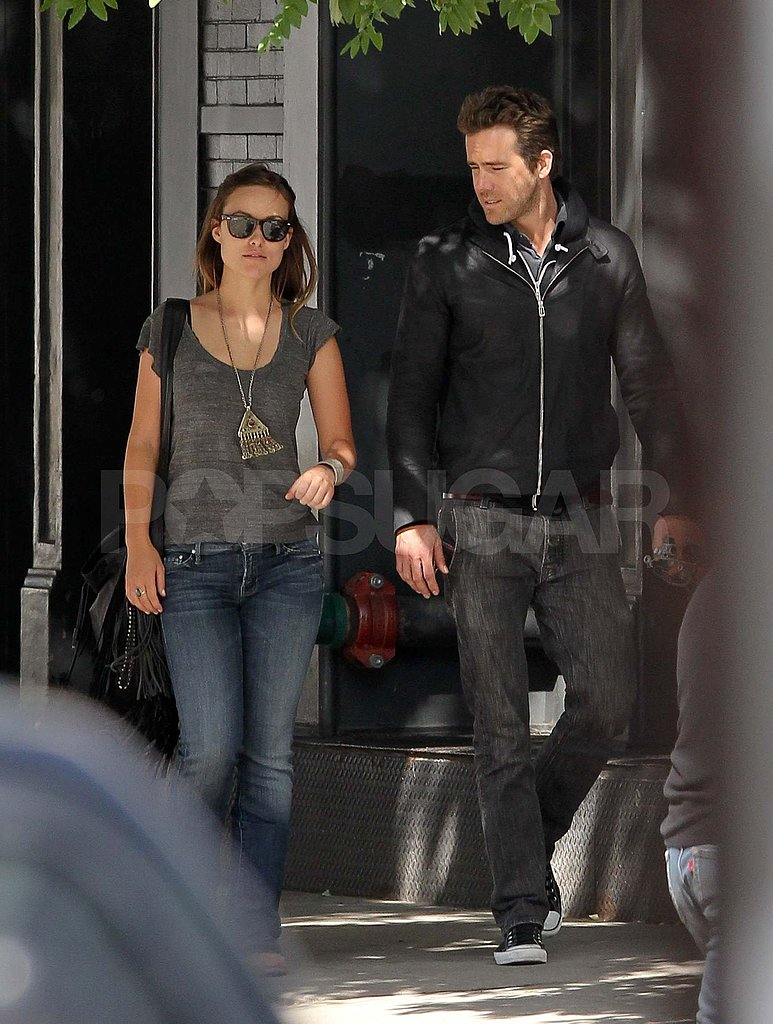 Ryan Reynolds with Olivia Wilde out in NYC.