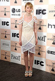 Stepping out for the Independent Spirit Awards in a femme little Opening Ceremony dress in 2011.