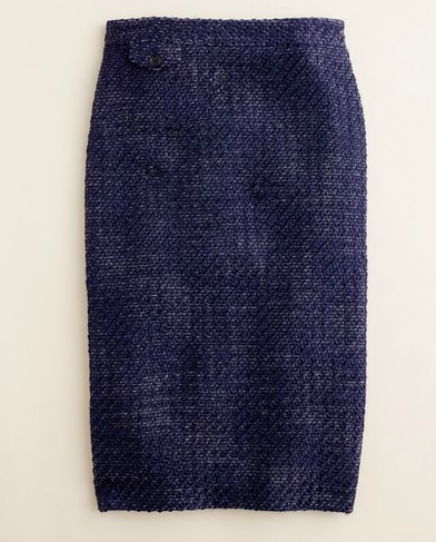 The pencil skirt gets a seasonal update in cozy tweed and a crisp navy hue.J.Crew Vintage Tweed Pencil Skirt ($148)