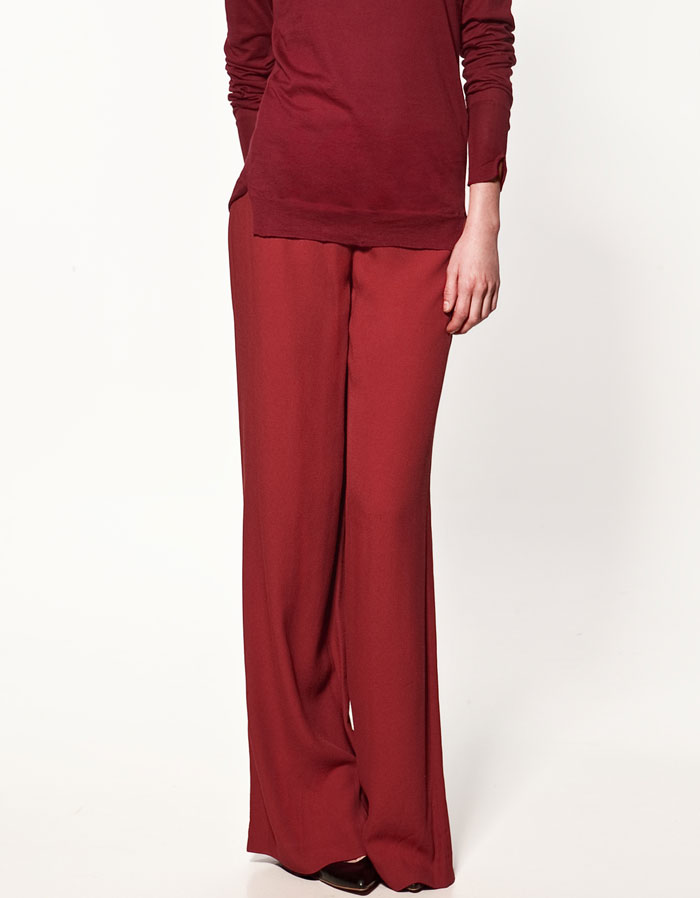 A pair of nonblack pants is this season's must have, and we love the draped silhouette here.Zara Palazzo Trousers ($60)