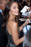 Minka Kelly outside of David Letterman in NYC.