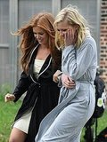 Kirsten Dunst and Isla Fisher joked around between scenes.
