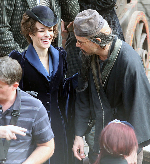Rachel and Robert Get Back Into Character For Sherlock Holmes