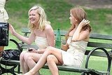 Kirsten Dunst cracked up with Isla Fisher.
